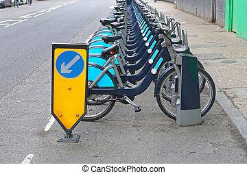 london, biciklizik, alkalmaz, tervez
