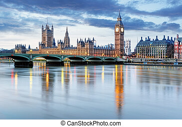 London - Big ben and houses of parliament, UK