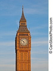 London. Big Ben clock tower. - Famous Big Ben clock tower in...