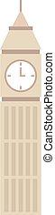 Vector illustration big ben clock symbol of London and United Kingdom.