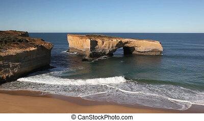 Famous London Bridge along Great Ocean Drive of Australia