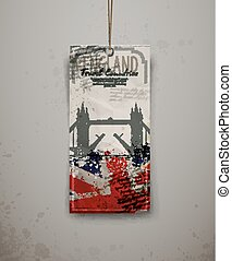 London bridge hand drawn, vector illustration