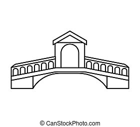 london bridge isolated icon