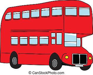 London bus. Vector illustration.