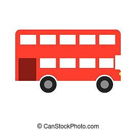 london bus isolated icon