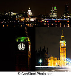London by night collage