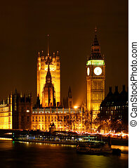 London by Night - London U.K. The parlament house