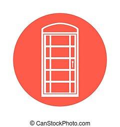 london cab telephone isolated icon