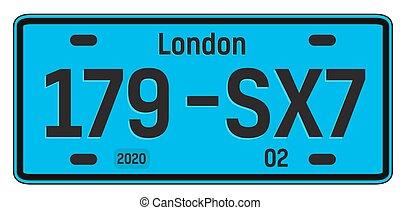London car plate