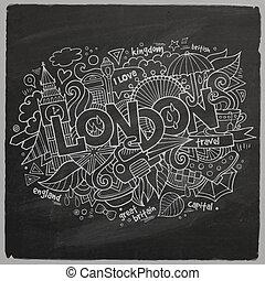 London chalk board background