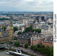 London City aerial view with Big Ben