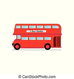 London city bus vector illustration