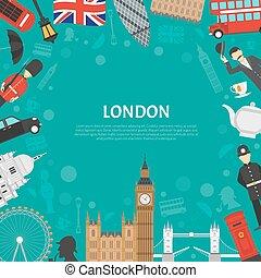 London City Frame Background Flat Poster