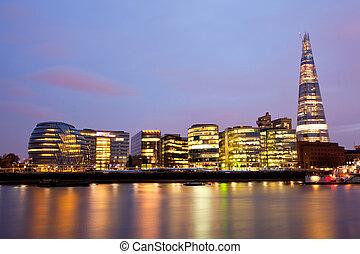 London City Hall Skylines - London City Hall Skylines along...