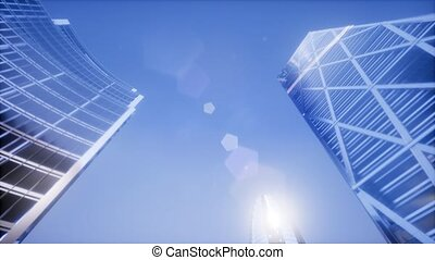 London. City of London view business and banking arial