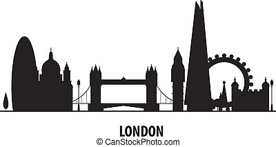 London city skyline - cityscape silhouette with landmarks