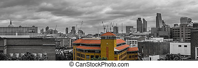 London city skyline panorama