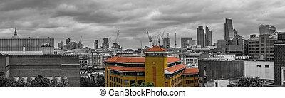 London city skyline panorama