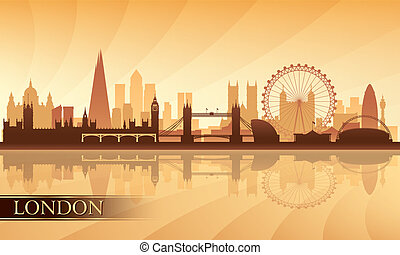 London city skyline silhouette background