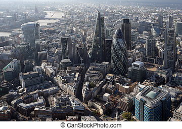 london city skyline view from above - a view of london city ...