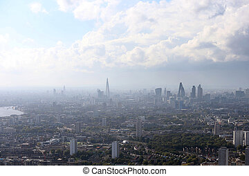 london city skyline view from above
