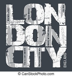 London city Typography design
