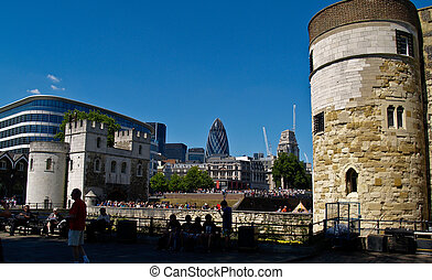 London City with Tower on right.