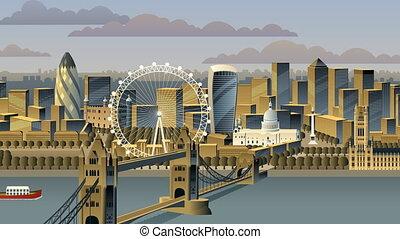 London cityscape animation.