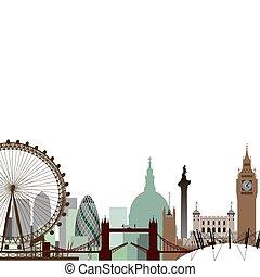 London Cityscape - A Vector Cityscape of London