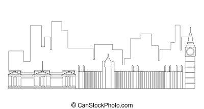 London cityscape outline
