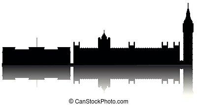 London cityscape silhouette