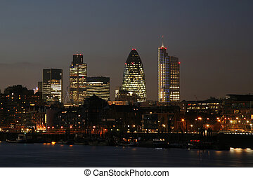 London Cityscape - Skyline of City of London seen from Tower...