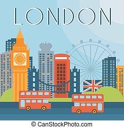 London Cityscape Vector Illustration