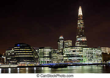 London cityscape with City Hall - City Hall is the...
