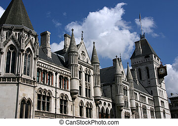 London court - Famous building in London: Royal Court of...