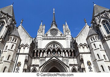 London Court House - London, UK - Royal Courts of Justice on...