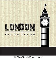 london design over lineal background vector illustration