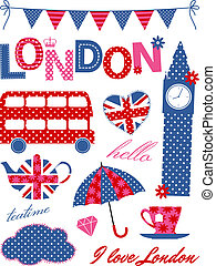 London Design Elements - London scrapbooking elements in...