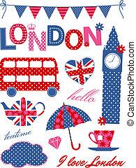 London Design Elements - London scrapbooking elements in...