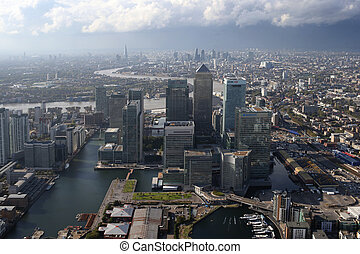 london docklands skyline view from above - a view of london ...