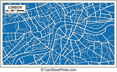 London England Map in Retro Style. Vector Illustration.