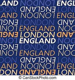 London, England seamless pattern, typographic city...