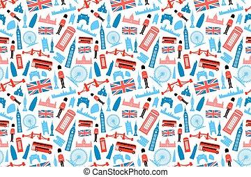 London, England Seamless Pattern