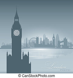 London England skyline city silhouette background