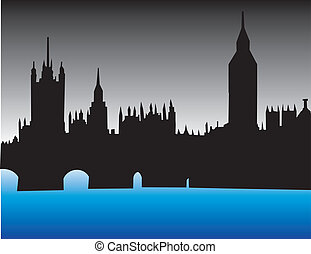 London England Skyline - London England skyline, parliament...