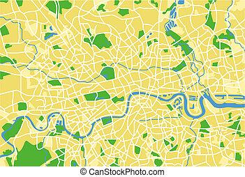 London - vector map of London.