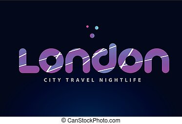 london european capital word text typography design