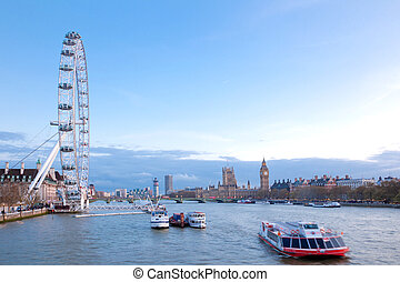 London Eye England - LONDON - April 14: London Eye with Big...