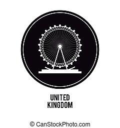 london eye icon. United kingdom design. vector graphic