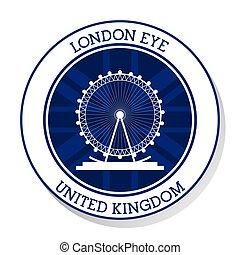 London eye. United kingdom. vector graphic